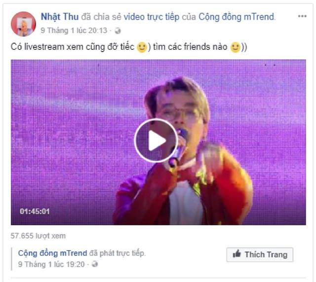 """Bên cạnh đó, với mong muốn mang đến những trải nghiệm """"kết nối âm nhạc"""" trọn vẹn nhất cho các bạn trẻ trên cả nước, tại chặng dừng chân ở các thành phố như Hà Nội, Đà Nẵng, TP. Hồ Chí Minh, MobiFone Music Tour còn livestream trên Facebook và Youtube của mTrend và được đông đảo các bạn trẻ chia sẻ."""