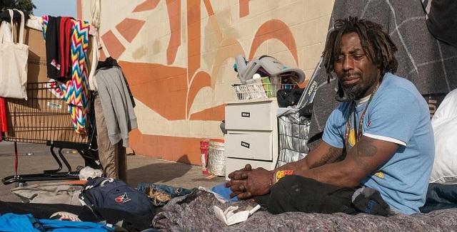 Kaels Raybon là người vô gia cư ở San Francisco (Ảnh: Straitstimes)