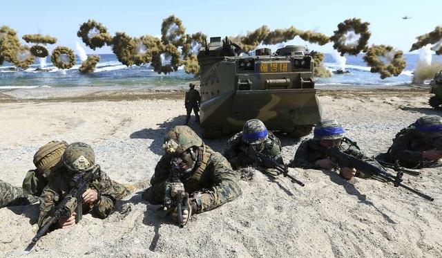 Một cuộc tập trận chung của quân đội Mỹ và Hàn Quốc (Ảnh: Reuters)