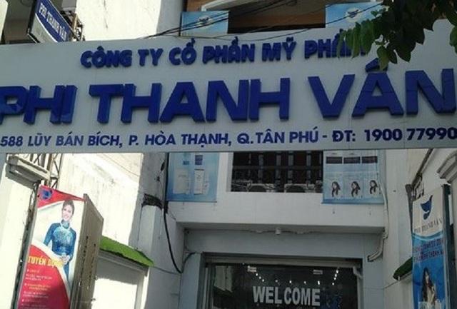 Công ty Mỹ phẩm Phi Thanh Vân đã bị Thanh tra Sở Y tế chỉ ra nhiều sai phạm