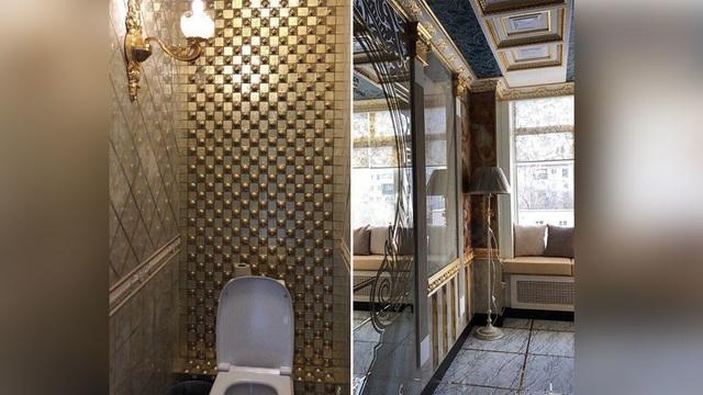 Nhà vệ sinh dát vàng ở Đại học Urals. (Ảnh: Facebook)