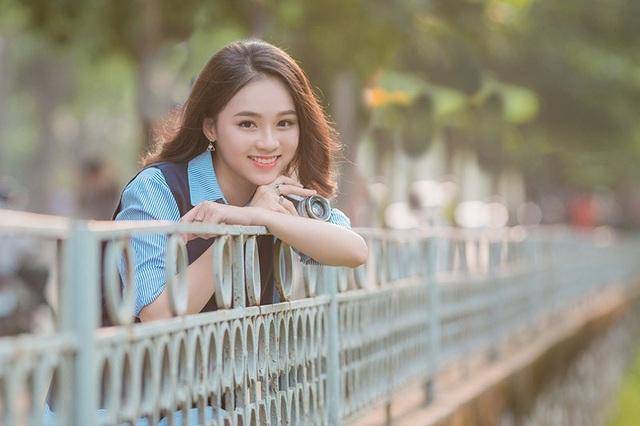 Nụ cười đẹp tựa nắng thu của nữ sinh Hà thành - 10