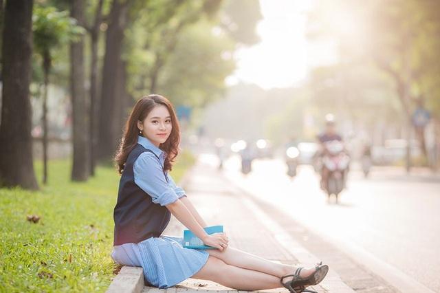 Nụ cười đẹp tựa nắng thu của nữ sinh Hà thành - 4