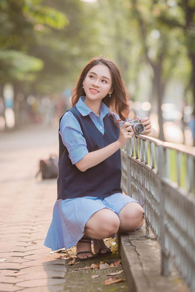 Nụ cười đẹp tựa nắng thu của nữ sinh Hà thành - 6