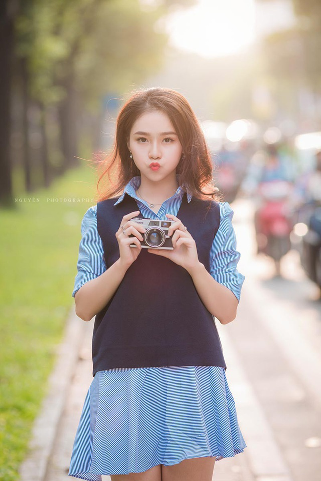 Nụ cười đẹp tựa nắng thu của nữ sinh Hà thành - 8
