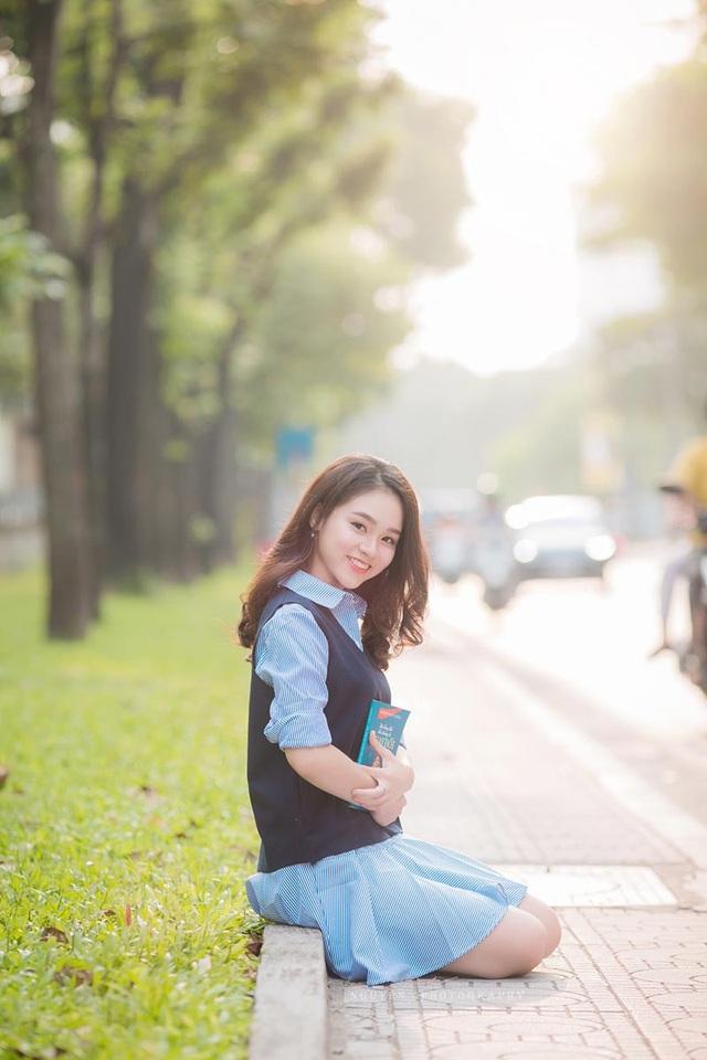 Nụ cười đẹp tựa nắng thu của nữ sinh Hà thành - 9
