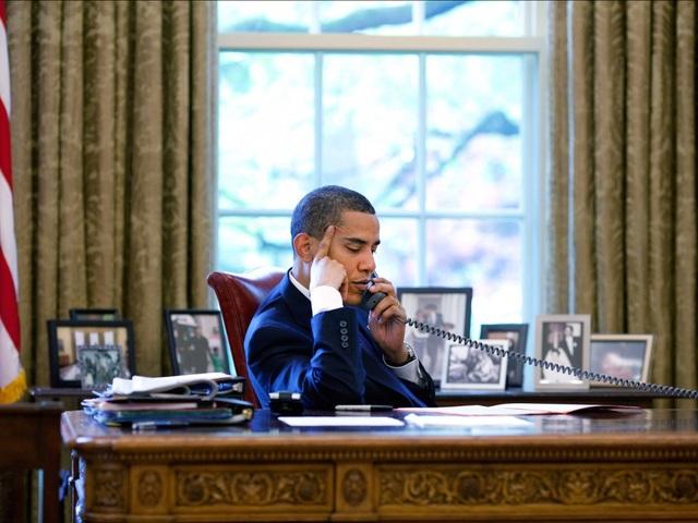 Bàn làm việc của cựu Tổng thống Barack Obama. (Ảnh: Reuters)