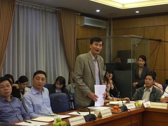 Ông Nguyễn Đỗ Kiên trả lời tại cuộc họp báo.