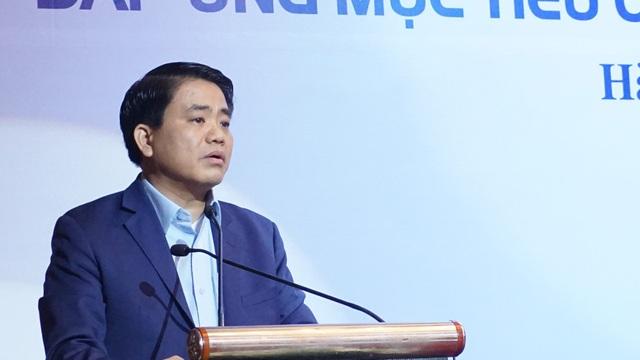 Ông Nguyễn Đức Chung: Trồng mới cây xanh là nhiệm vụ đã được thành phố đưa ra để xây dựng kế hoạch trong chương trình phát triển, kinh tế xã hội giai đoạn 2016-2020. (Ảnh: Nguyễn Dương).