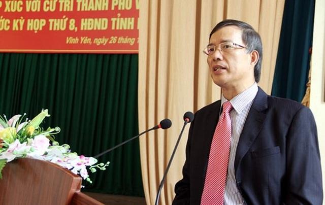 Ban Bí thư thi hành kỷ luật ông Phạm Văn Vọng bằng hình thức cách chức Bí thư Tỉnh ủy Vĩnh Phúc nhiệm kỳ 2010 - 2015.