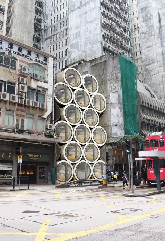 Nhà ống cống tận dụng những khoảng đất trống khắp Hong Kong