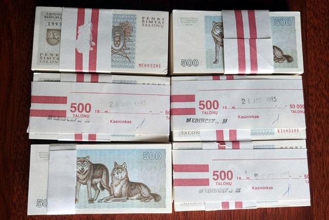 Tờ tiền mệnh giá 500 Talonu của Lithuania