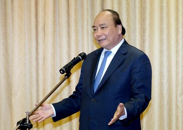 Thủ tướng Nguyễn Xuân Phúc phát biểu tại buổi gặp mặt - Ảnh: VGP/Quang Hiếu