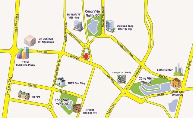 Center Point Cầu Giấy (110 Cầu Giấy, Hà Nội) sở hữu vị trí với lợi thế về kinh tế - văn hóa và thương mại.