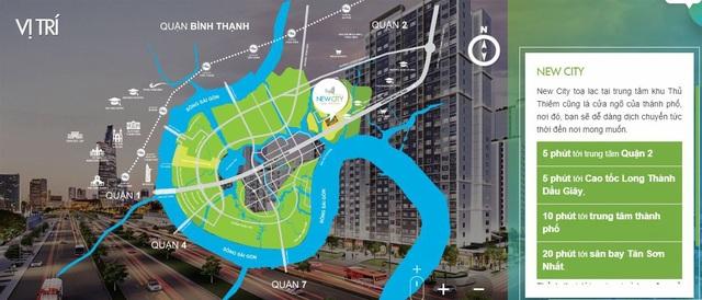 Từ New City Thủ Thiêm, có thể di chuyển một cách thuận lợi đến trung tâm thành phố và các khu vực lân cận