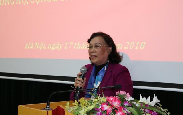 Bà Phạm Thị Hải Chuyền, Chủ tịch Hội Người Cao tuổi Việt Nam.