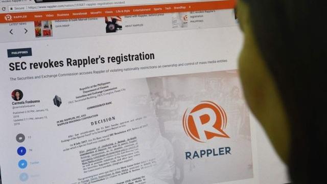 Trang tin Rappler (Ảnh: Getty)