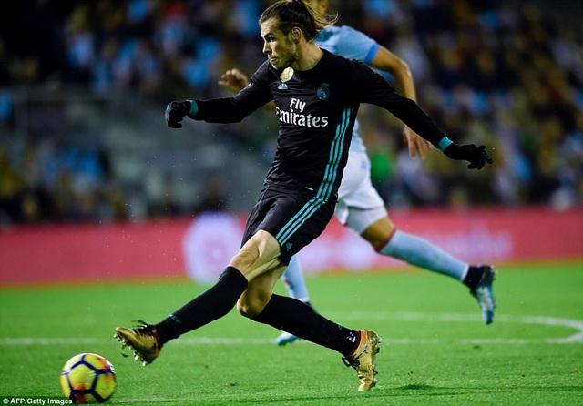 Cú đúp của Bale không thể giúp Real Madrid có được chiến thắng