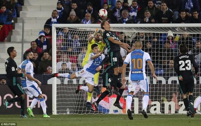 Real Madrid nhọc nhằn thắng Leganes 1-0 ở lượt đi