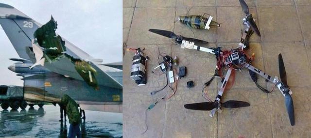 Đây là lần đầu tiên khủng bố dùng máy bay không người lái công nghệ cao tấn công căn cứ quân sự Nga ở Syria. (Ảnh: Aviationist)