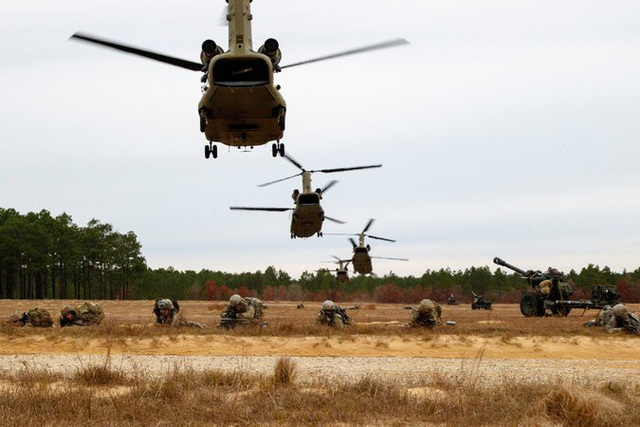 Sư đoàn Không vận 82 tập trận ở Nevada tháng 12/2017 (Ảnh: New York Times)