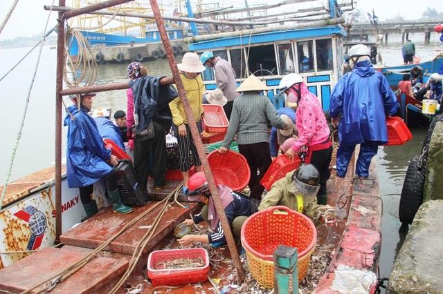 Khung cảnh tấp nập tại cảng cá Cửa Việt, tỉnh Quảng Trị