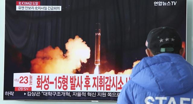 Một vụ phóng thử tên lửa của Triều Tiên (Ảnh: Reuters)