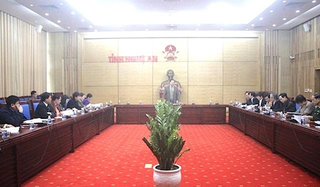 """UBND tỉnh Nghệ An họp tổ chức Chương trình """"Tết vì người nghèo Mậu Tuất 2018."""