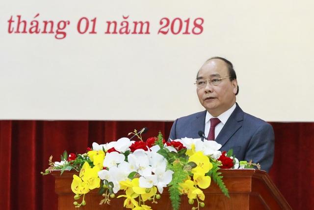 Thủ tướng Chính phủ Nguyễn Xuân Phúc phát biểu tại hội nghị (ảnh: Quang Vinh)
