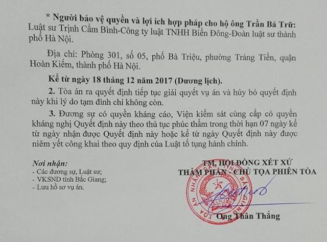 Luật sư Quách Thành Lực cho rằng TAND tỉnh Bắc Giang đang đánh đố người dân và tự đánh đố chính mình.
