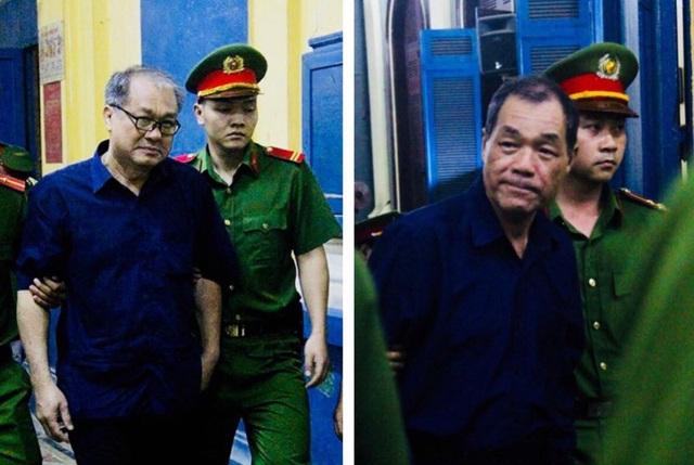 Các bị cáo Phạm Công Danh và Trầm Bê xuất hiện bước vào phiên xét xử (ảnh: Vietnamnet)