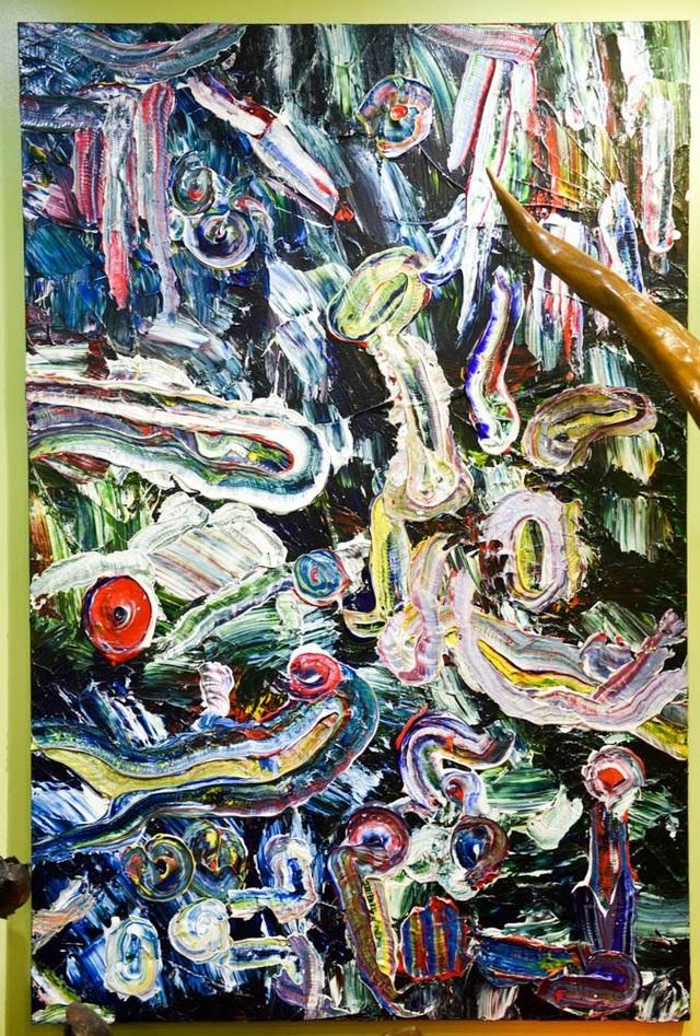 Vạn sự trong tranh cũng như ngoài tranh chuyển động liên tục, như vòng quay vĩnh hằng (bốn mùa xuân hạ thu đông), biến động vô thường.