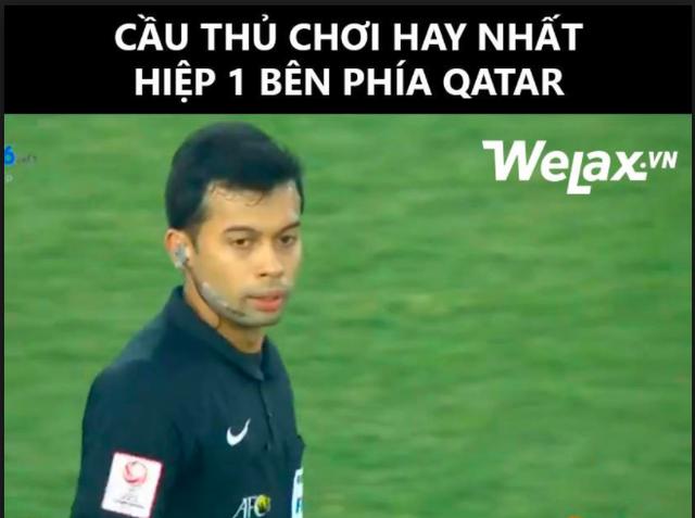Trọng tài Muhammad Taqi Aljaafari đến từ Singapore chịu nhiều chỉ trích vì những tình huống bắt lỗi không chính xác trong trận U23 Việt Nam - U23 Qatar