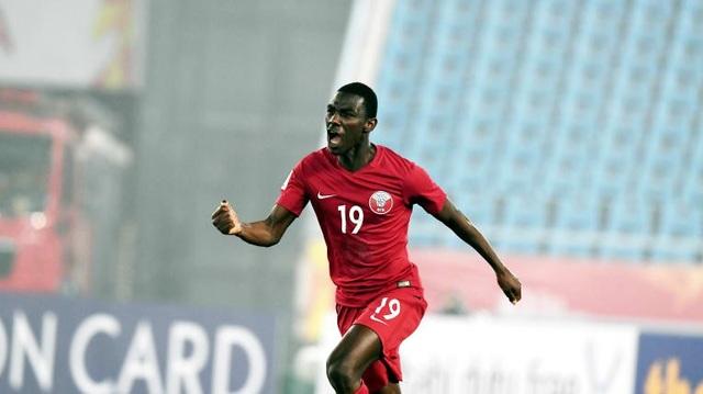 Almoez Ali là người hùng của U23 Qatar, khi lập cú đúp trong trận đấu này