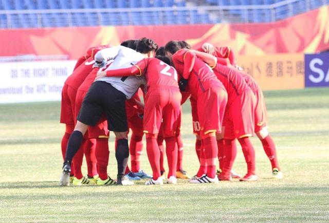 Cầu thủ U23 Việt Nam quyết tâm trước trận đấu