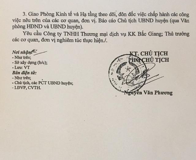 UBND huyện Việt Yên quyết liệt chỉ đạo xử lý sai phạm tại dự án chợ Hoàng Ninh.