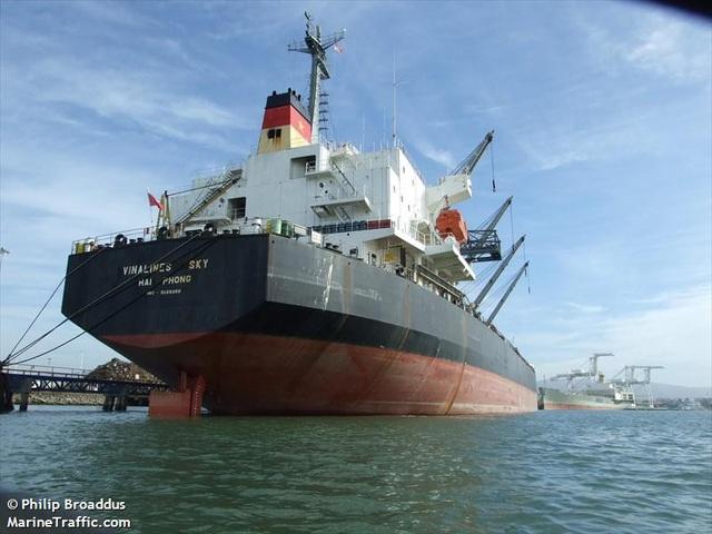 Tàu Vinalines Sky (ảnh: Marine Traffic).