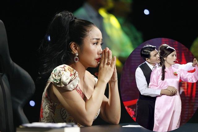 """Sự hỗ trợ của diễn viên Hồng Trang, MC Anh Thơ khiến nam MC thăng hoa hơn trong diễn xuất. Cái kết đầy bi thương khi nhân vật của Vũ Mạnh Cường ôm người vợ đã chết, gào lên: """"Dậy đi em"""" khiến cho """"Ốc"""" Thanh Vân lẫn khán giả bật khóc."""