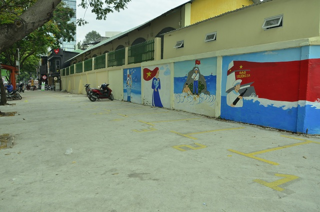 Vỉa hè đường Nguyễn Thái Học