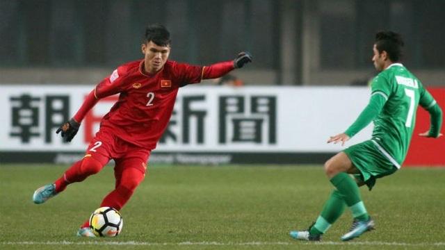 Xuân Mạnh đã chơi tốt ở trận đấu với U23 Iraq