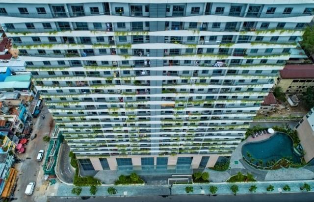 Cất nóc tháp C - Diamond Lotus Riverside - bức tường xanh khổng lồ giữa lòng Sài Gòn - 3