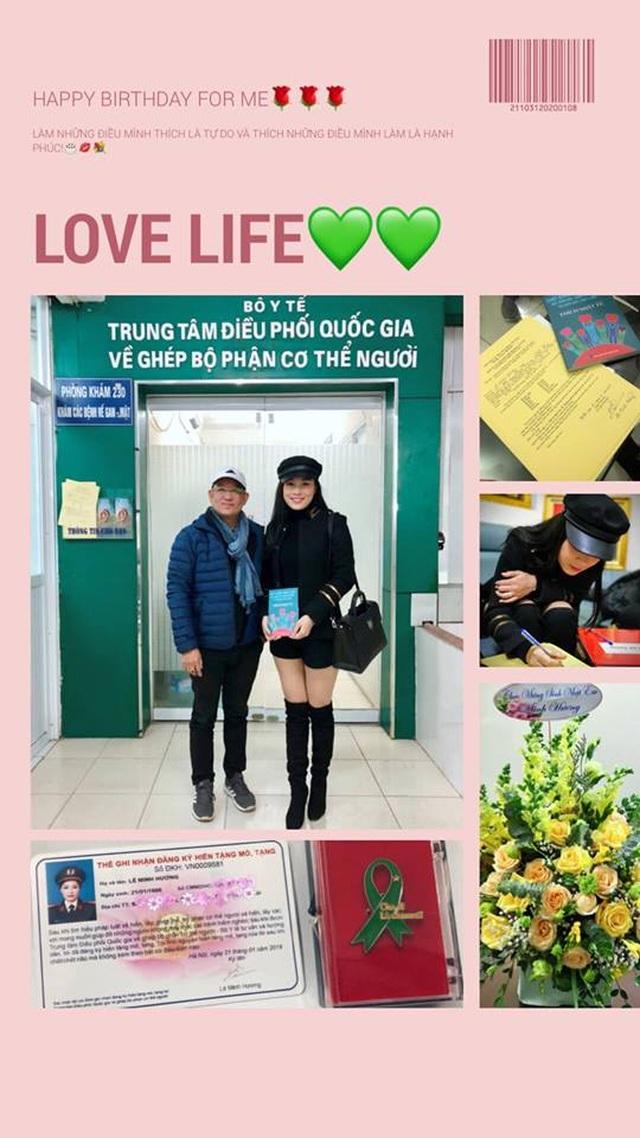"""""""Vàng Anh"""" Minh Hương hiến tặng mô tạng khi chết não"""