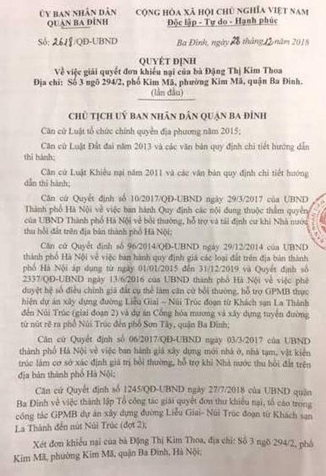 Hà Nội: Quận Ba Đình bổ sung quyền lợi cho người dân sau loạt bài của Báo Dân trí! - 1