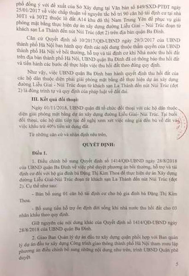 Hà Nội: Quận Ba Đình bổ sung quyền lợi cho người dân sau loạt bài của Báo Dân trí! - 2