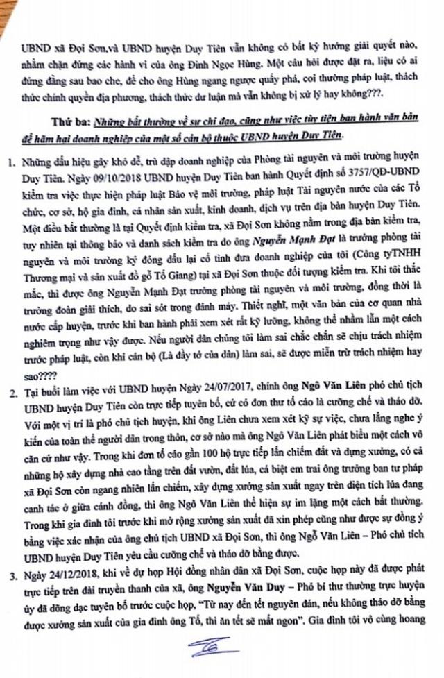 Hà Nam: Chủ xưởng gỗ kêu cứu tố bị cơ quan chức năng chèn ép! - 3