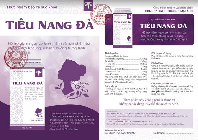 Tiêu Nang Đà – thực phẩm bảo vệ sức khỏe phụ nữ trước u xơ tử cung, u nang buồng trứng lành tính - 2