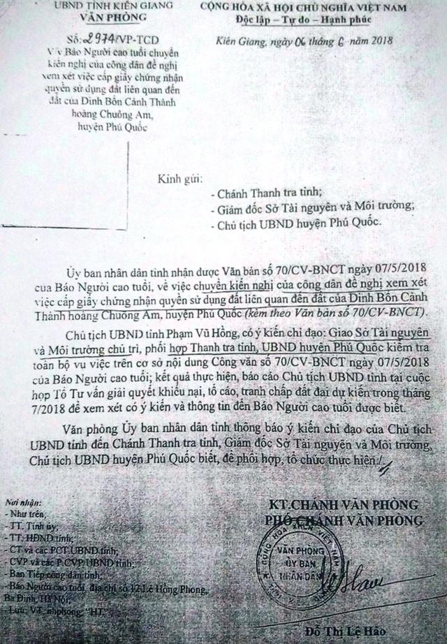 """Chủ tịch tỉnh Kiên Giang chỉ đạo làm rõ nghi án """"xẻo"""" gần 17.000m2 đất chùa ở Phú Quốc - 2"""