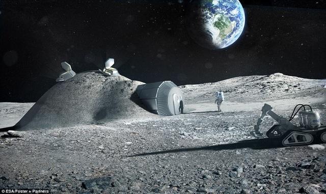 """Châu Âu chạy đua """"khai thác"""" Mặt Trăng vào năm 2025 - 1"""