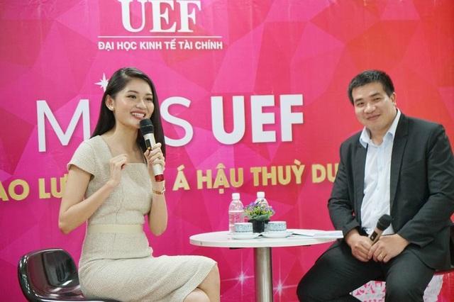 """Á hậu Thùy Dung xuất hiện nền nã trong chương trình """"tiếp lửa"""" cho Miss UEF 2019 - 2"""