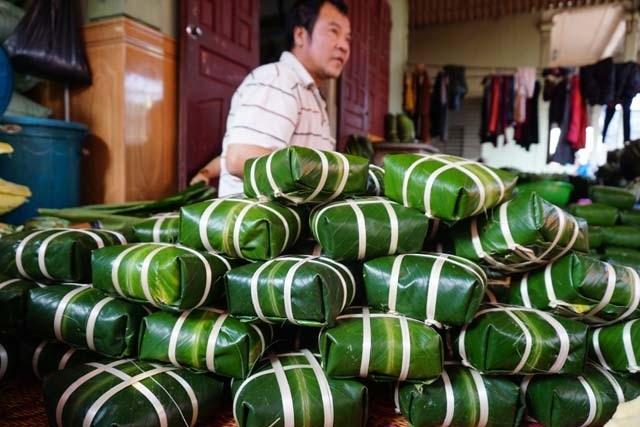 Làng bánh chưng Vĩnh Hòa: Mỗi ngày chợp mắt 2 tiếng để kịp giao hàng  - 9